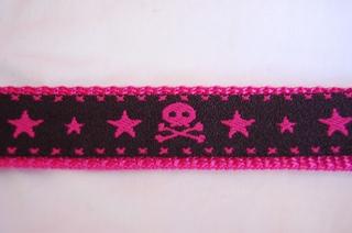 スカル柄 黒×ピンク